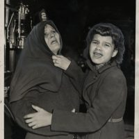 Weegee, But Their Faces Show Their Fear, December 15, 1939, silver gelatin print on glossy fibre paper, printed by December 19, 1939, © Weegee / International Center of Photography, Courtesy: Daniel Blau