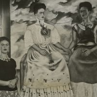 Frida Kahlo and 'Las Dos Kahlos', © courtesy Daniel Blau, Munich