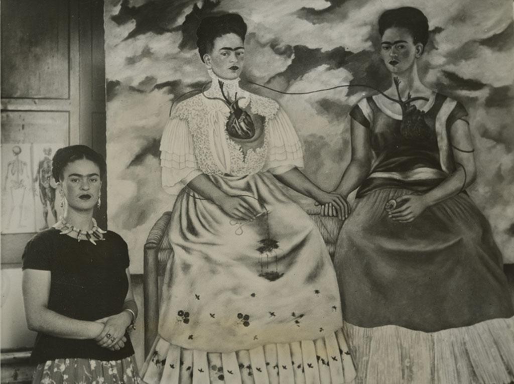 Frida-Kahlo-and-Las-Dos-Kahlos©Courtesy-Daniel-Blau-Munich