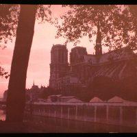 Coucher de Soleil sur Notre Dame, June 1909, autochrome, Léon Gimpel (1878-1949)