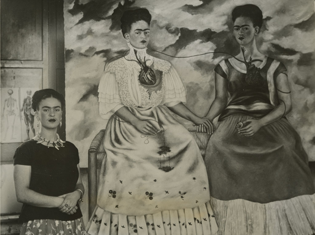 Frida-Kahlo-and-Las-Dos-Kahlos©Courtesy-Daniel-Blau-Munich