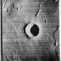 "Nasa Orbiter I, ""Lunar Surface with Crater Mösting"", 1966, ©NASA, courtesy Daniel Blau, Munich"